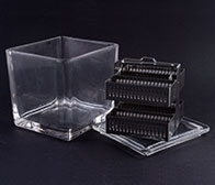Glass slide staining jar